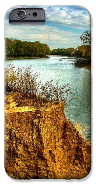 White River Scene Photographs iPhone Cases - White River Erosion iPhone Case by Julie Dant