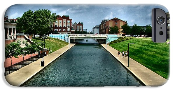 White River Scene Photographs iPhone Cases - White River Park Canal in Indy iPhone Case by Julie Dant