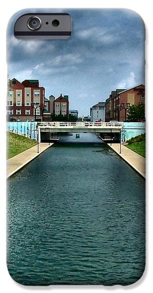 White River Park Canal in Indy iPhone Case by Julie Dant