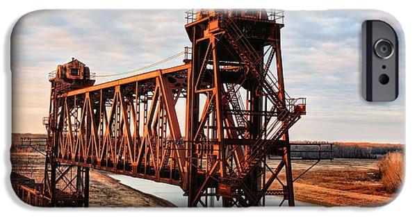 Arkansas iPhone Cases - White River Railroad Bridge iPhone Case by JC Findley