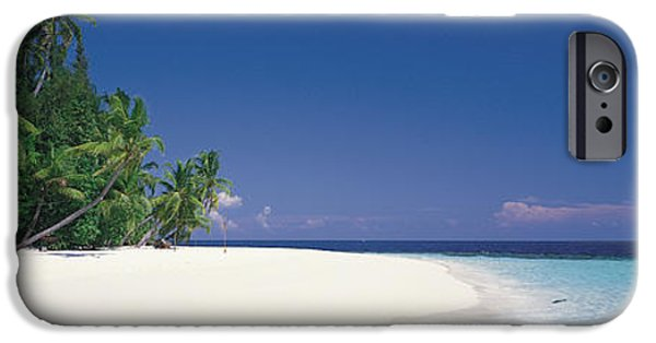 Pristine iPhone Cases - White Sand Beach Maldives iPhone Case by Panoramic Images