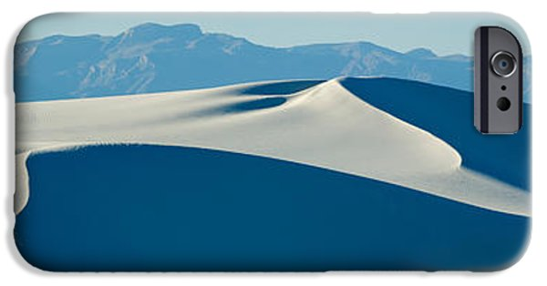 Sand Dunes iPhone Cases - White Sand Dunes With Mountains iPhone Case by Panoramic Images