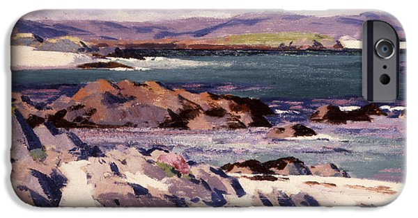 Posters From iPhone Cases - White Sands   Iona  iPhone Case by Francis Campbell Boileau Cadell