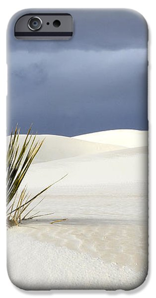 White Sands Dark Sky iPhone Case by Bob Christopher