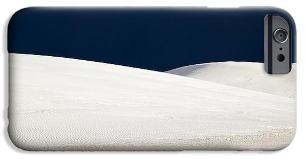 Storm iPhone Cases - White Sands Dark Sky iPhone Case by Mary Lee Dereske