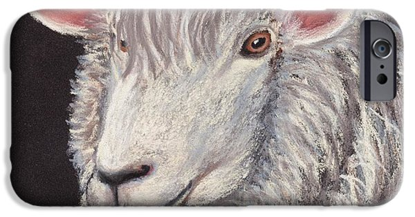 Ears iPhone Cases - White Sheep iPhone Case by Anastasiya Malakhova