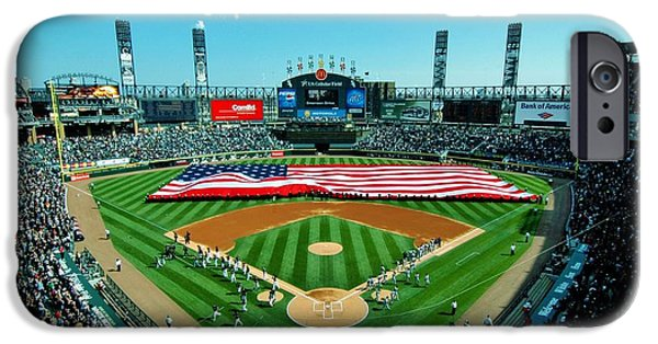 Baseball Stadiums iPhone Cases - White Sox Opening Day iPhone Case by Benjamin Yeager