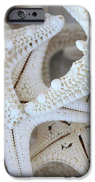 White Starfish iPhone Case by Carol Groenen