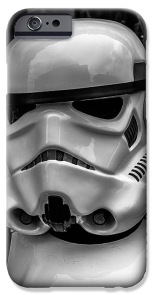 White Digital Art iPhone Cases - White Stormtrooper iPhone Case by David Doyle