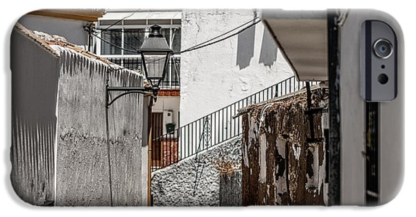 Spanish House iPhone Cases - White Streets of Ronda. Andalusia. Spain iPhone Case by Jenny Rainbow