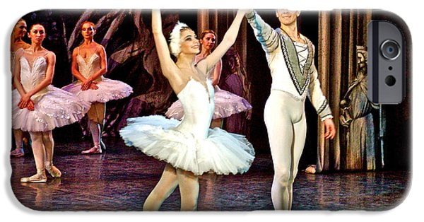 Catherine White Digital Art iPhone Cases - White Swan in Swan Lake Ballet in Hermitage Theatre in Saint Petersburg-Russia iPhone Case by Ruth Hager