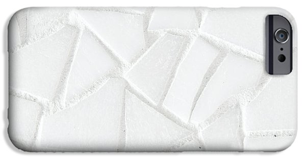 Mosaic iPhone Cases - White tiles iPhone Case by Tom Gowanlock