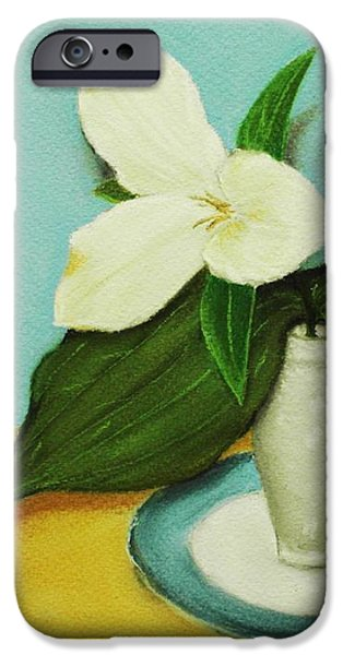 Canada iPhone Cases - White Trillium iPhone Case by Anastasiya Malakhova