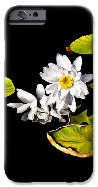 White Water Lilies iPhone Case by Frances Hattier