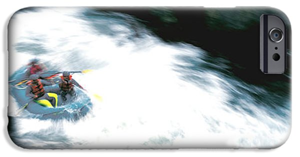 Raft iPhone Cases - White Water Rafting Salmon River Ca Usa iPhone Case by Panoramic Images
