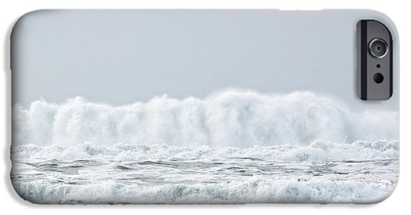 Storm Tapestries - Textiles iPhone Cases - White Water Surge iPhone Case by Dennis Bucklin