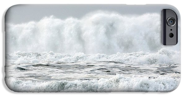 Ocean Tapestries - Textiles iPhone Cases - White Water Wave iPhone Case by Dennis Bucklin
