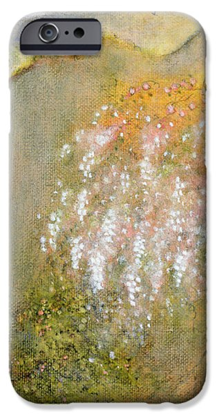 Floral Photographs iPhone Cases - White Whisteria, 2001 Oil On Canvas iPhone Case by Jane Deakin