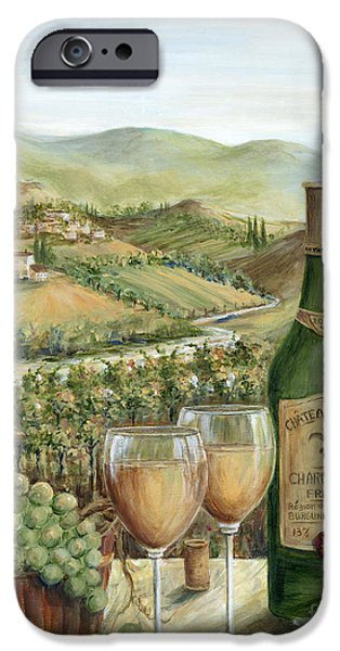 Glass Of Wine Paintings iPhone Cases - White Wine Lovers iPhone Case by Marilyn Dunlap