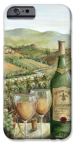 Wine Bottles iPhone Cases - White Wine Lovers iPhone Case by Marilyn Dunlap