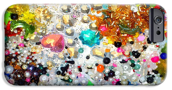 Mounds Mixed Media iPhone Cases - White with Foam iPhone Case by James Elmore