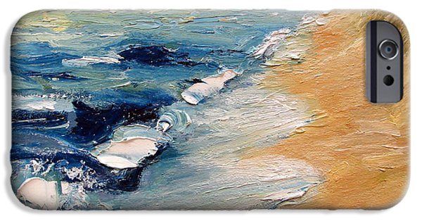 Chicago Paintings iPhone Cases - Whitecaps on Lake Michigan 3.0 iPhone Case by Michelle Calkins
