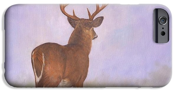 Whitetail Deer iPhone Cases - Whitetail iPhone Case by David Stribbling