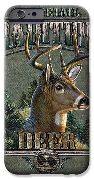 Cynthie Fisher iPhone Cases - Whitetail deer Traditions iPhone Case by JQ Licensing