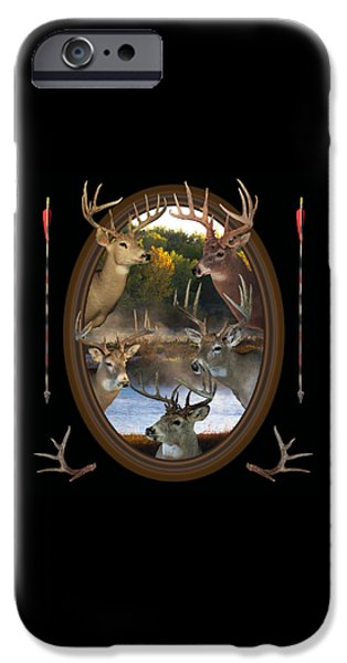 Fog Mist Mixed Media iPhone Cases - Whitetail Dreams iPhone Case by Shane Bechler