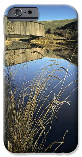 Covered Bridge iPhone Cases - Whitman County Bridge iPhone Case by Latah Trail Foundation