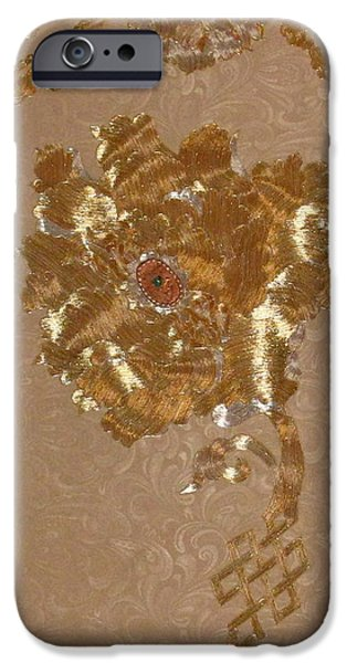 Abstractions Tapestries - Textiles iPhone Cases - Whitmans Reach detail iPhone Case by Dan A  Barker