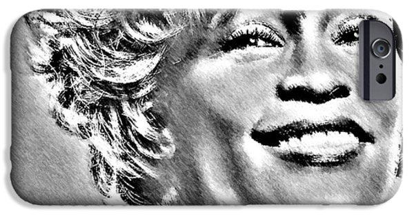 Mariah Carey iPhone Cases - Whitney iPhone Case by Tony Ashley
