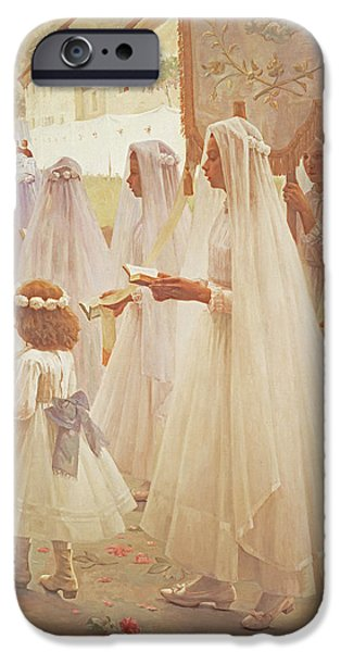 Pentecost iPhone Cases - Whitsunday, 1888 iPhone Case by Edouard Victor Durand