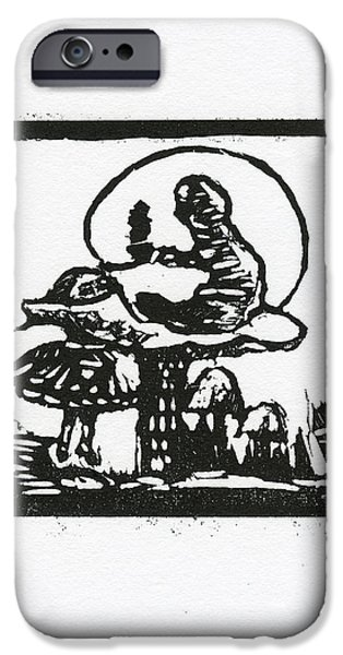 Black And White Reliefs iPhone Cases - Who are you iPhone Case by Barbara M Wilson