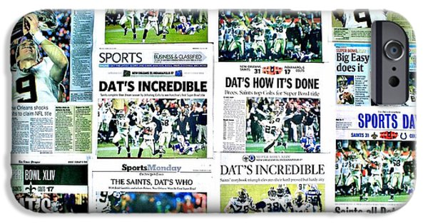 Newspaper iPhone Cases - Who Dat Headlines iPhone Case by Benjamin Yeager