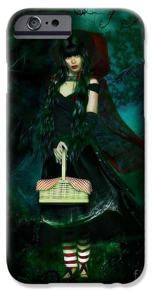 Afraid iPhone Cases - Who is Afraid of the Big Bad Wolf iPhone Case by Shanina Conway