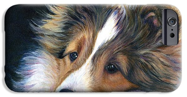 Dogs iPhone Cases - Who Me iPhone Case by Jeanne  McNally