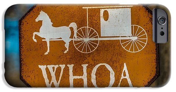 Traffic Sign iPhone Cases - Whoa iPhone Case by Paul Freidlund