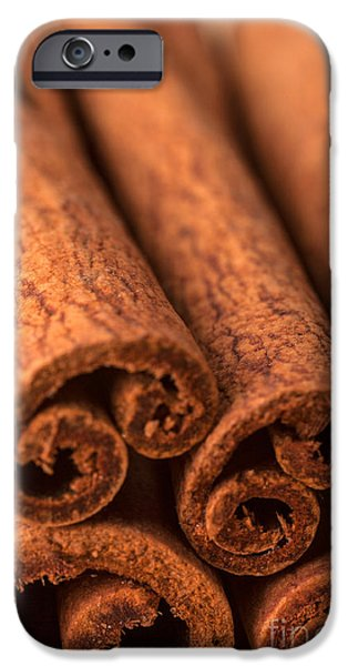 Commercial Photography iPhone Cases - Whole Cinnamon Sticks  iPhone Case by Iris Richardson