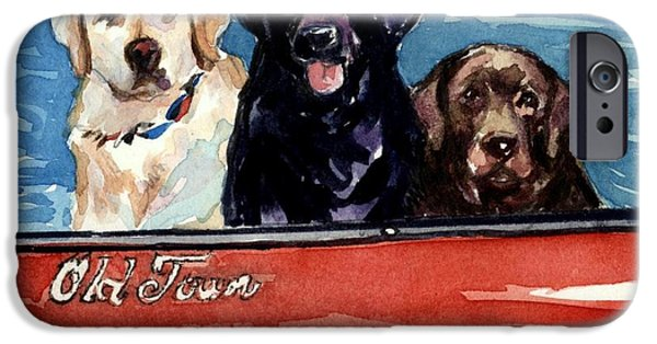 Black Dog iPhone Cases - Whole Crew iPhone Case by Molly Poole