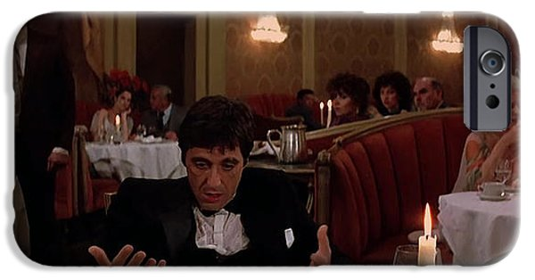 Scarface Digital Art iPhone Cases - Whos bad? iPhone Case by Marcos Jara Puccio