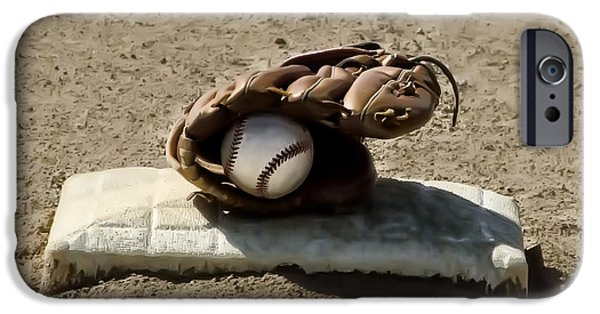 Baseball Glove iPhone Cases - Whos On First iPhone Case by Bill Cannon