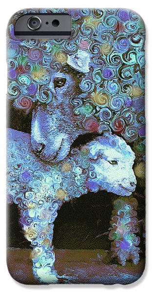 Baby Animal iPhone Cases - Whose little lamb are you? iPhone Case by Jane Schnetlage