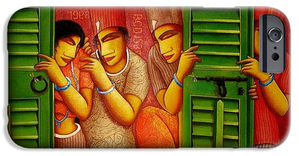 Bonding Paintings iPhone Cases - Whwt Is  iPhone Case by Samir  Sarkar