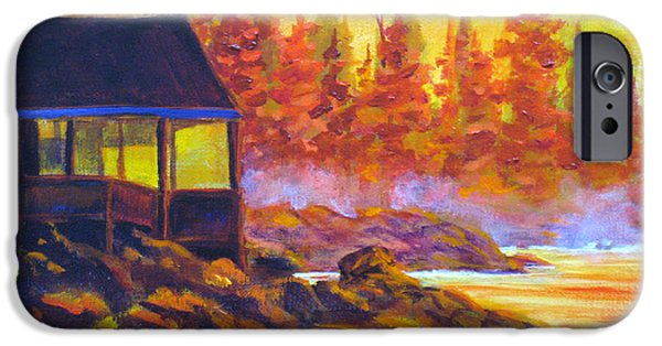 Sun Rays Paintings iPhone Cases - Wickaninnish Inn iPhone Case by Mohamed Hirji