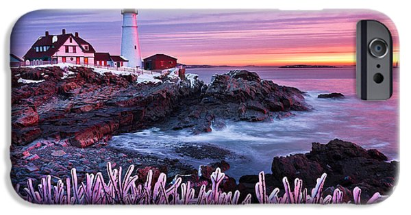 New England Lighthouse iPhone Cases - Wicked Garden iPhone Case by Benjamin Williamson