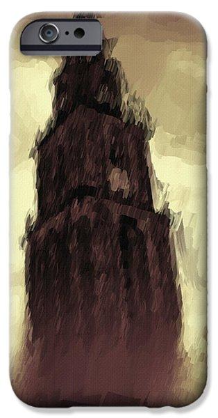 Wicked Tower iPhone Case by Ayse Deniz