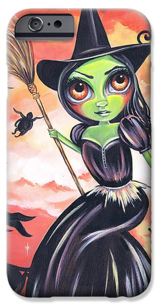 Green Witch iPhone Cases - Wicked Witch of the West iPhone Case by Jaz Higgins