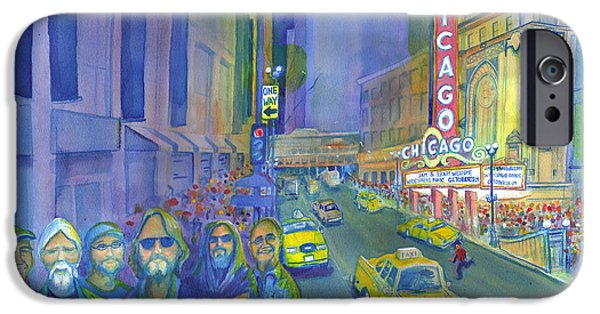 Recently Sold -  - Michael Paintings iPhone Cases - Widespread Panic Chicago  iPhone Case by David Sockrider