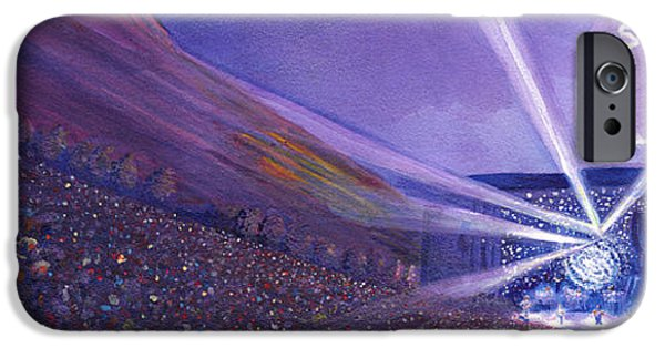 Storm Paintings iPhone Cases - Widespread Panic Redrocks Lighting iPhone Case by David Sockrider